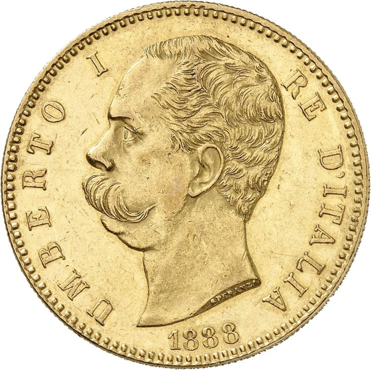 ITALIE Umberto Ier (1878-1900). 100 lire 1888, Rome.