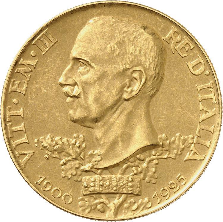 ITALIE Victor Emanuel III (1900-1946). 100 lire 1925, Rome.