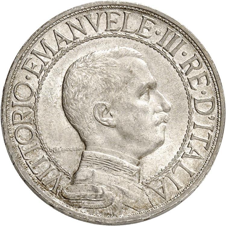ITALIE Victor Emmanuel III (1900-1946). 2 lire 1908, Rome.