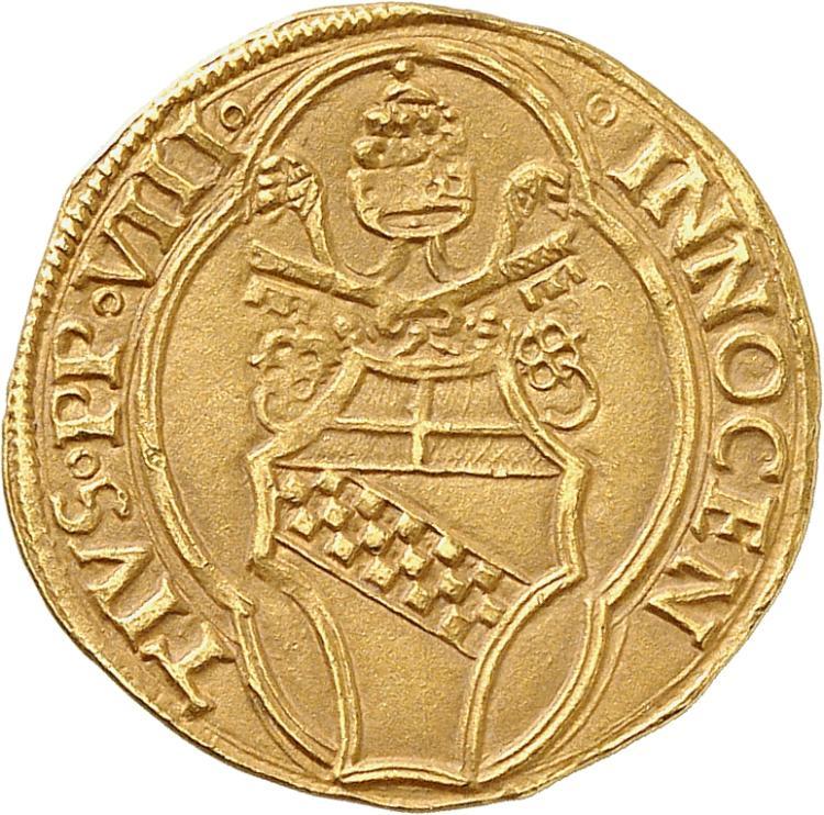 ITALIE Vatican, Innoncent VIII (1484-1492). Florin, Rome.