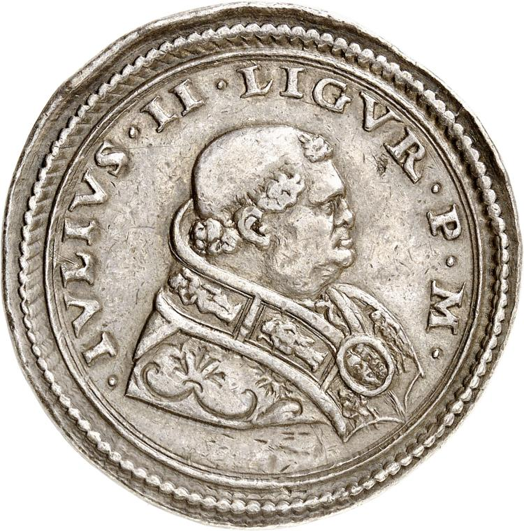 ITALIE Vatican, Jules II (1503-1516). Médaille en argent commémorant la conversion de Paul de Tarse au Christianisme.