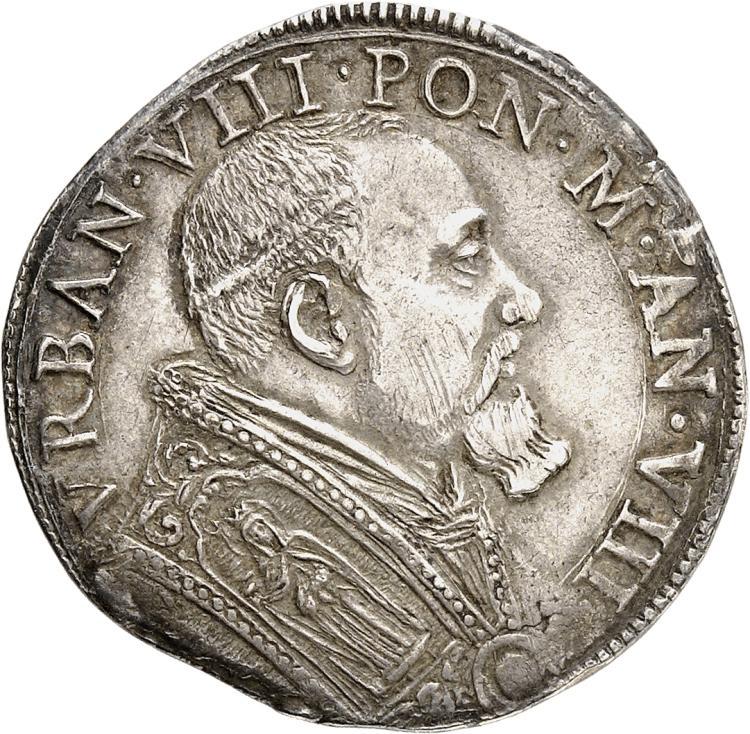 ITALIE Vatican, Urbain VIII (1623-1644). Teston.