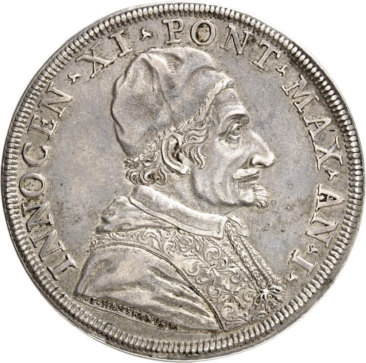 ITALIE Vatican, Innoncent XI (1676-1689). Piastre an I, Rome.