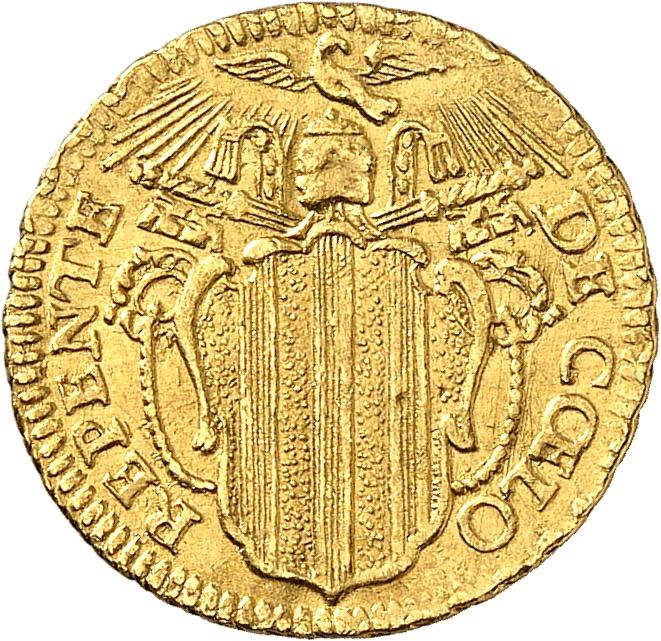 ITALIE Vatican, Benoît XIV (1740-1758). ½ sequin, 1748.