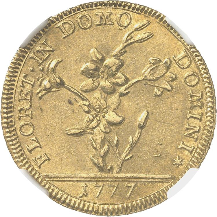 ITALIE Vatican, Pie VI (1775-1799). 2 doppie ou 60 paoli 1777.
