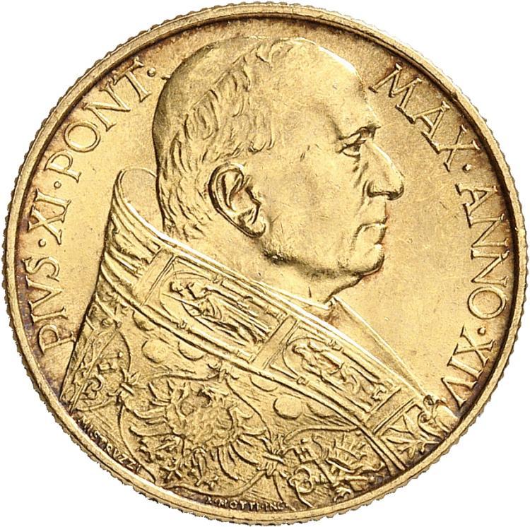 ITALIE Vatican, Pie XI (1922-1939). 100 lire 1935, Rome.