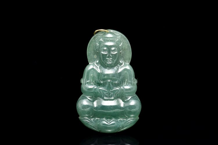 JADEITE GUANYIN PENDANT WITH CERTIFICATE