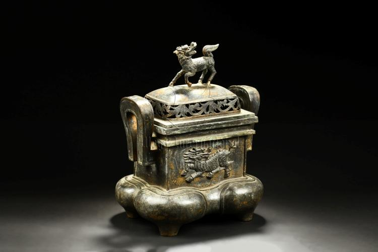 BRONZE CAST 'QILIN' CENSER