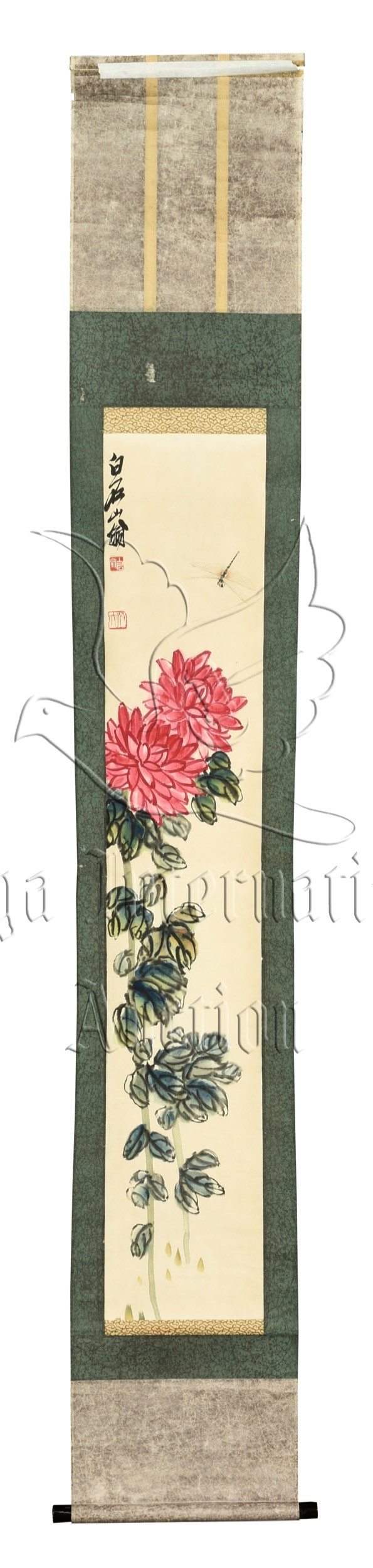 QI BAISHI: INK AND COLOR ON PAPER PAINTING 'FLOWERS'