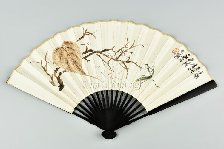 QI BAISHI: INK AND COLOR ON FAN PAINTING AND CALLIGRAPHY