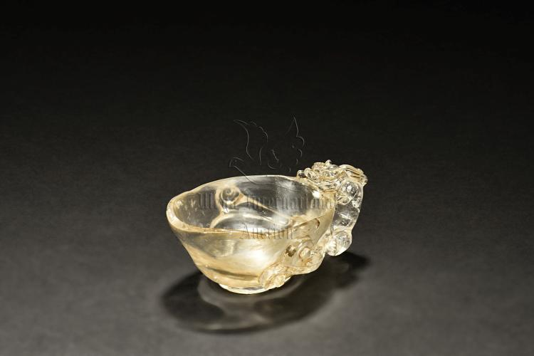 CRYSTAL CARVED 'MYTHICAL BEAST' CUP