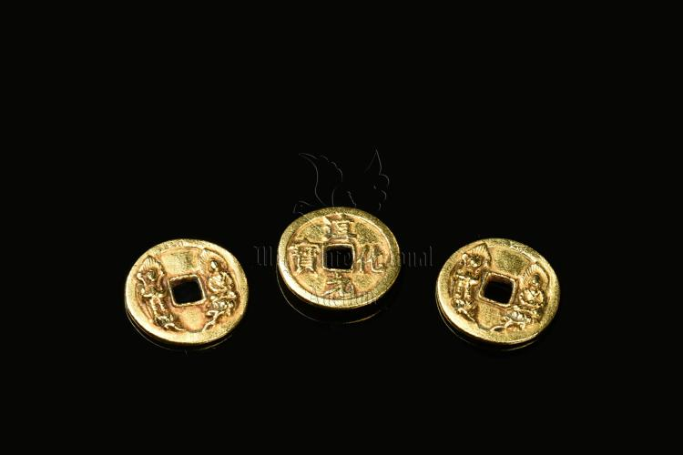 THREE CHUNHUA YUANBAO GOLD COINS