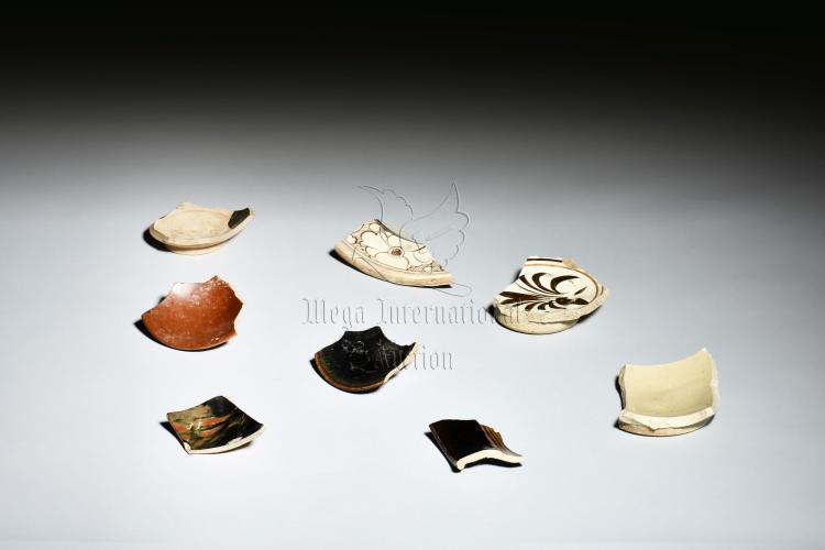 GROUP OF CIZHOU WARE CERAMIC SHARDS