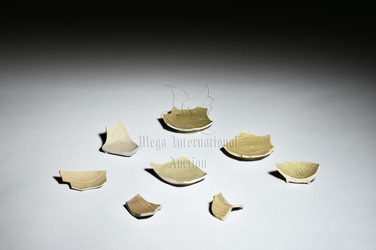 GROUP OF YUE WARE CERAMIC SHARDS