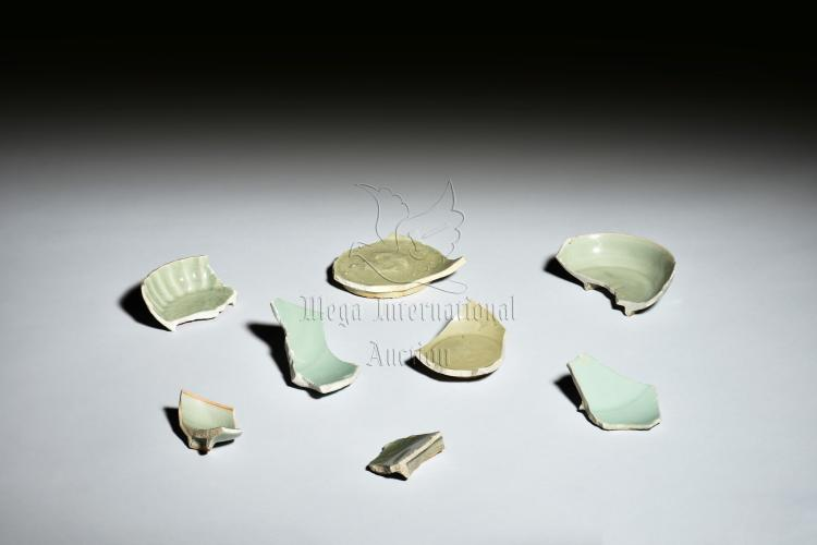 GROUP OF LONGQUAN WARE CERAMIC SHARDS