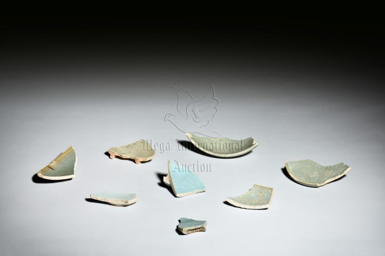 GROUP OF JUN WARE CERAMIC SHARDS