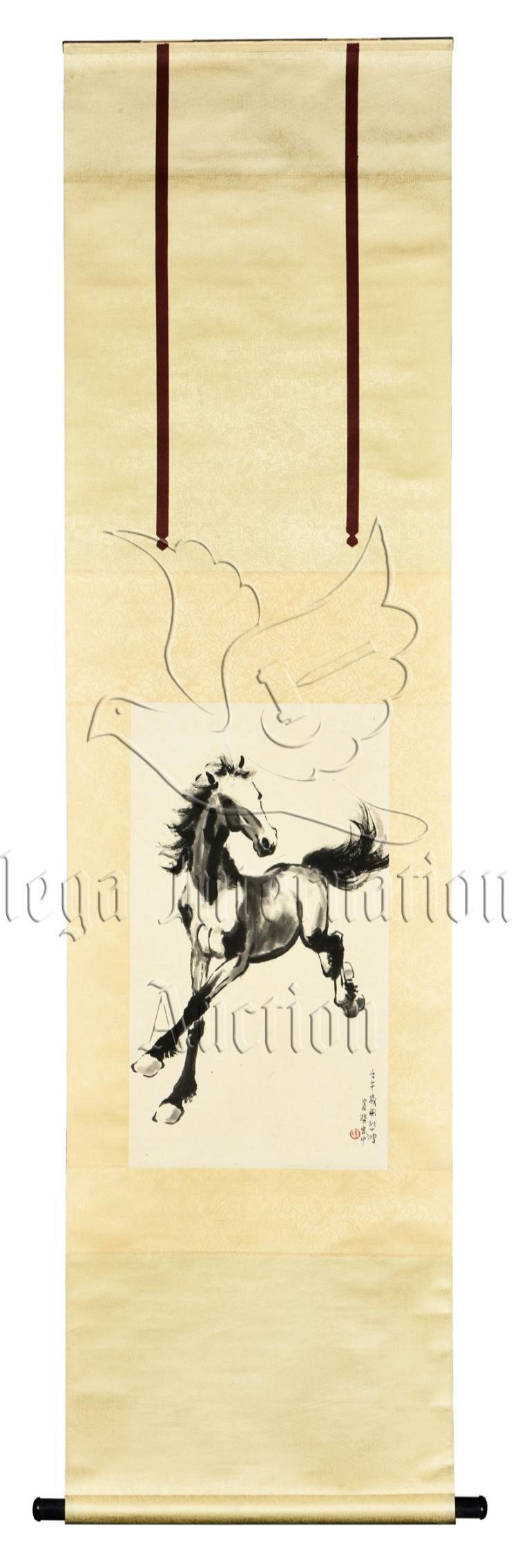 XU BEIHONG: INK ON PAPER PAINTING 'HORSE'