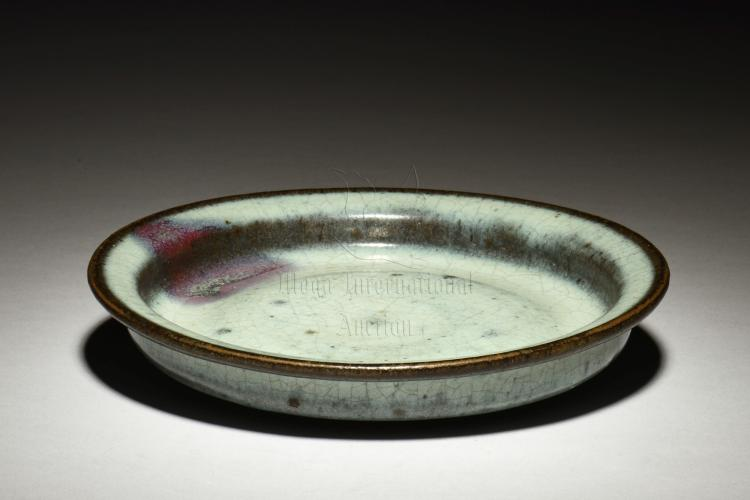 JUN WARE GLAZED AND SHALLOW DISH