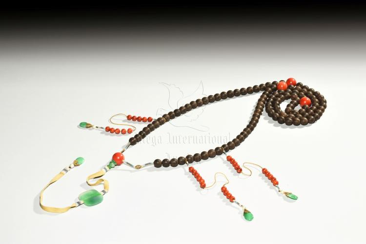 STRAND OF ALOESWOOD COURT BEADS