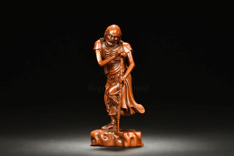HUANGYANGMU WOOD CARVED IMMORTAL FIGURE