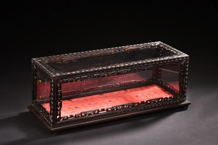 HONGMU WOOD CARVED RECTANGULAR BOX