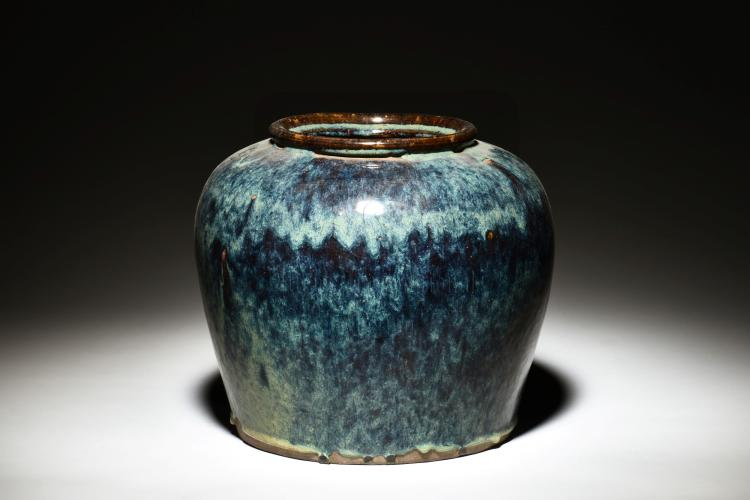 BLUE GLAZED JAR