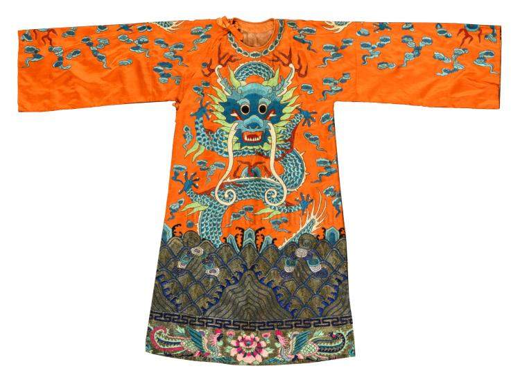 SILK CLOTH 'DRAGON' THEATER ROBE