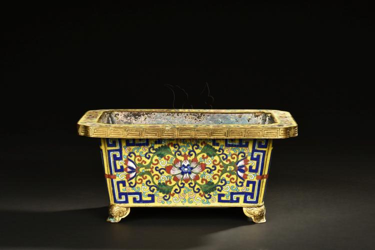 CLOISONNE ENAMELED PLANTER