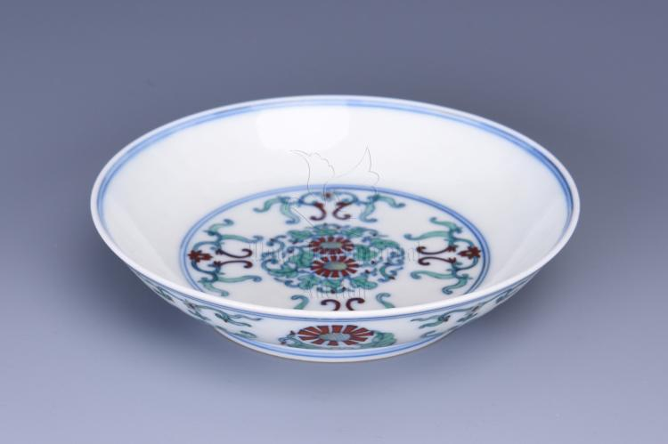 DOUCAI 'FLOWERS' DISH