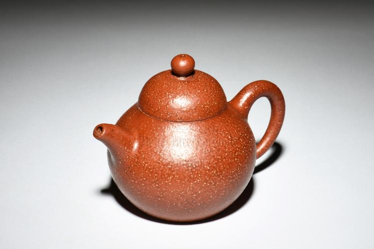 YIXING ZISHA 'ORANGE PEEL' TEAPOT
