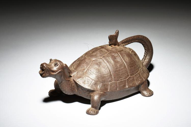 YIXING ZISHA 'DRAGON TURTLE' TEAPOT