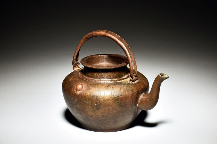 BRONZE CAST TEAPOT