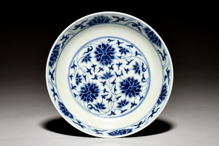 BLUE AND WHITE 'FLOWERS' DISH