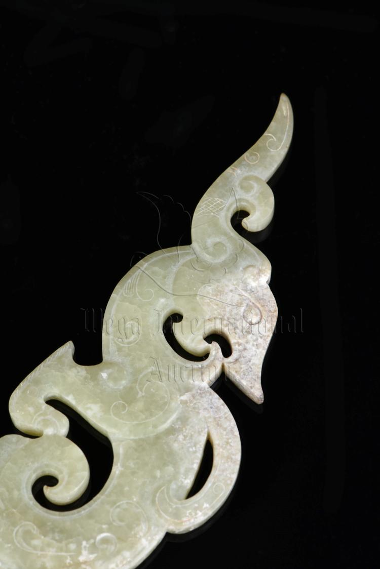 Jade carved dragon hairpin