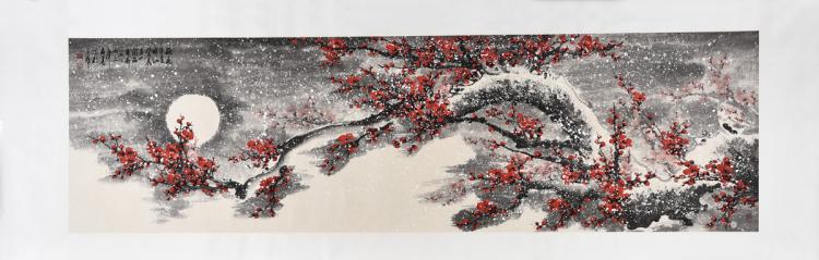 WANG CHENGXI: INK AND COLOR ON PAPER PAINTING