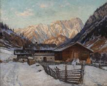 Adolf Wiesler, Bauernhof im Gebirge