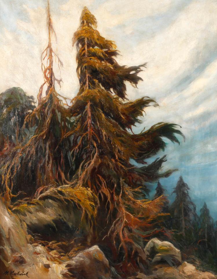 Max Herterich, Fichten im Gebirge