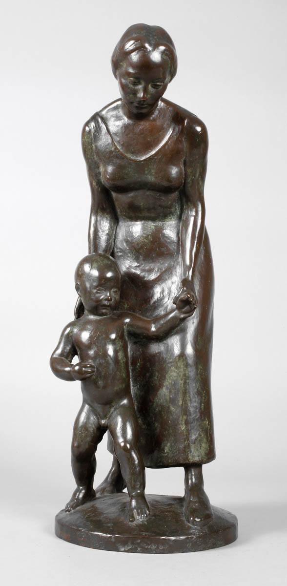Emil Hub, Mutter mit Kind
