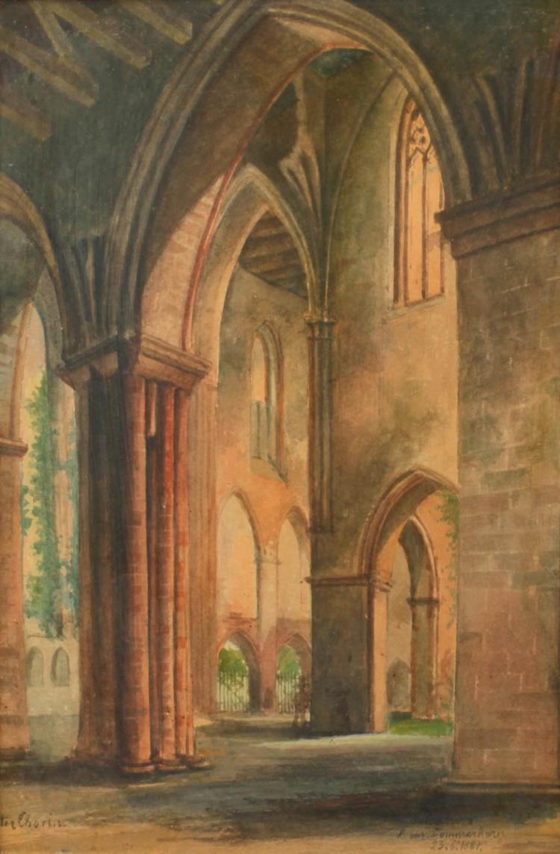 """Heinrich Sommerkorn, """"Kloster Chorin"""""""
