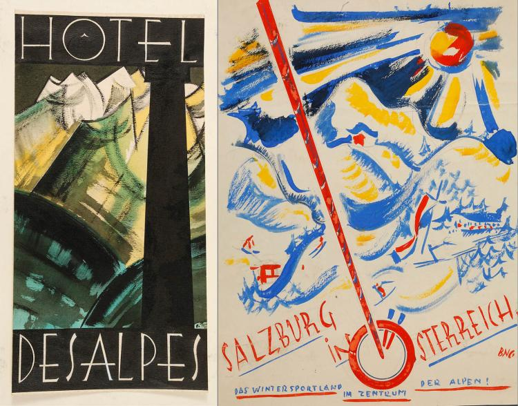 Bernhard Nowak-Cavon, Paar Plakatentwürfe