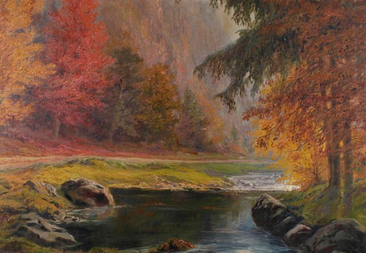 Hans Chrystoph, Herbstlicher Bachlauf