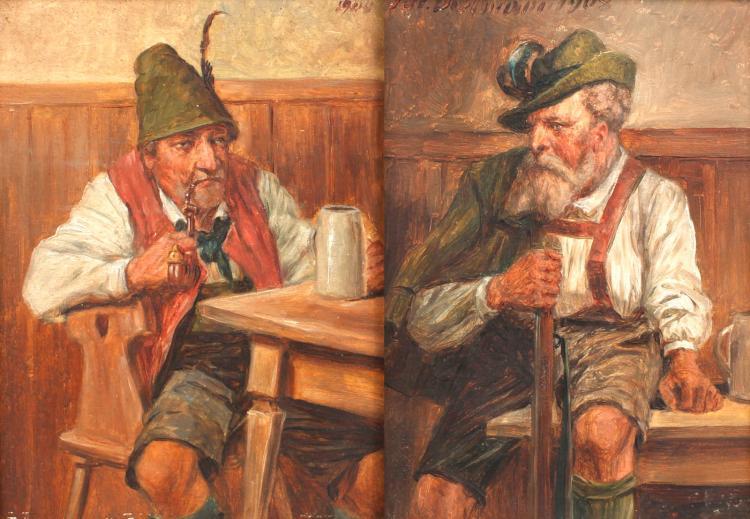 Julius Dielmann, Paar Jägerbilder
