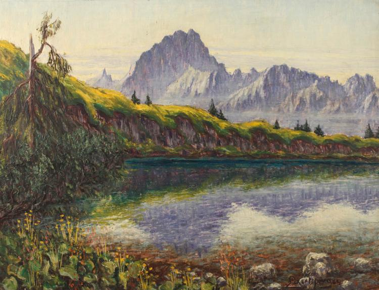 Leonhard Eckertsperger, Sommerliche Hochgebirgslandschaft