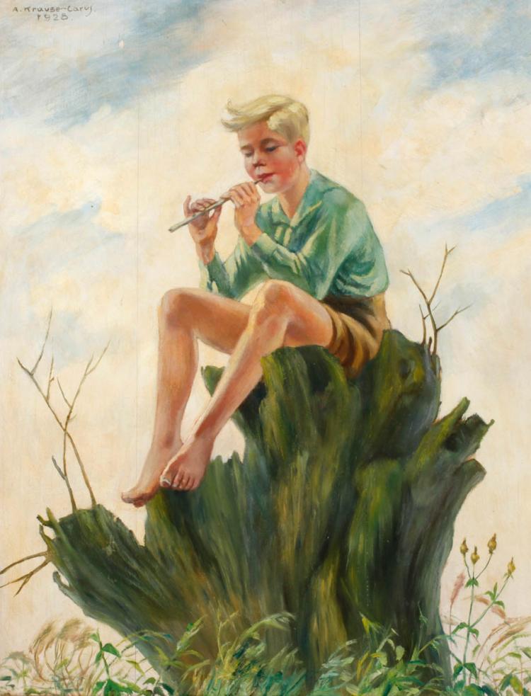 Arthur Krause-Carus, Flötenspieler