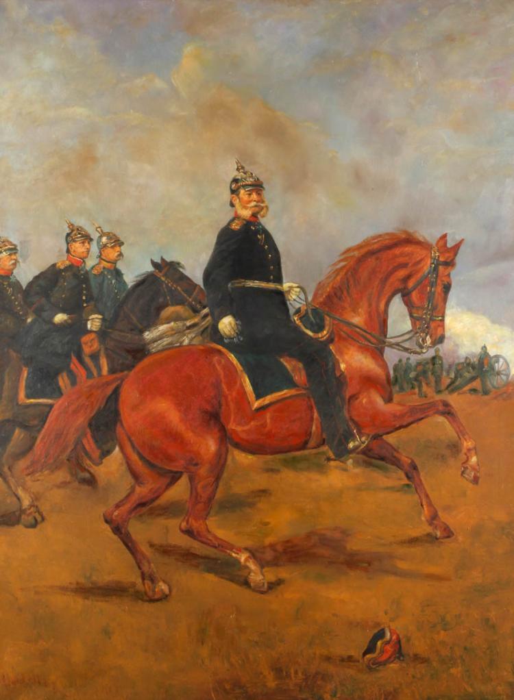 Kurt Maltner, attr., Kaiser Wilhelm I. in der Schlacht