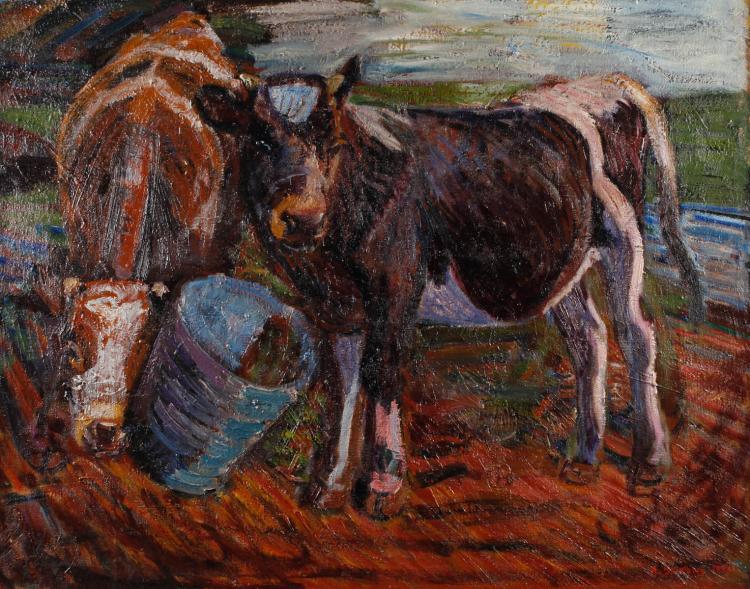 Axel Skjelborg, Kühe auf der Weide