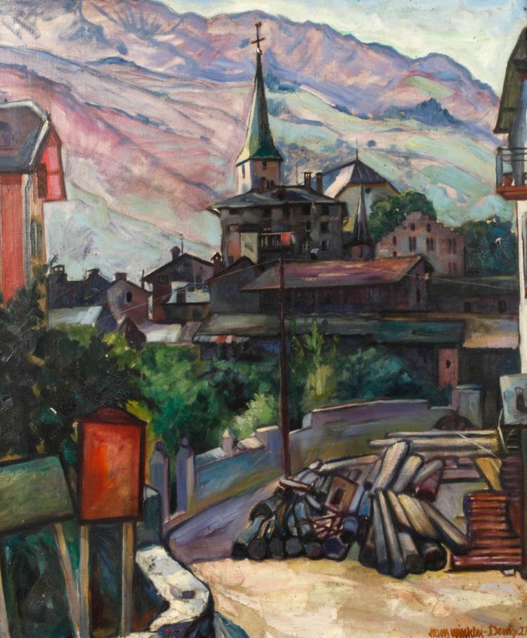 Hans Winkler-Dentz, Kleinstadt im Gebirge