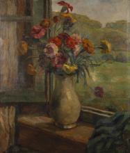 Franz Wallischeck, Blumen am Fenster