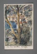 Siegfried Berndt, Autogramm und gemalte Postkarte