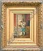 15 Codina-Langlin, Victoriano siehe oben, Der Rosenkavalier, fein, lasierend gemalte Genreszene im Geiste des Historismus, Ol/Holz, re. u. sign. V., Victorià Codina Langlín, Click for value